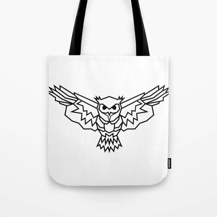 geometric-lowpoly-owl-bags
