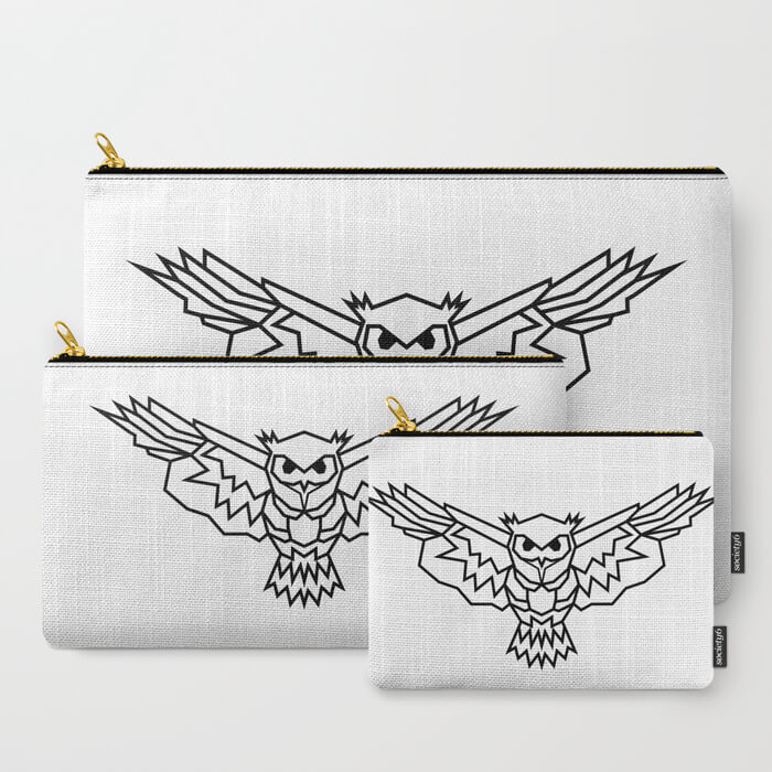 geometric-lowpoly-owl-carry-all-pouches