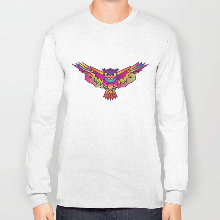 geometric-owl-colored-long-sleeve-tshirts