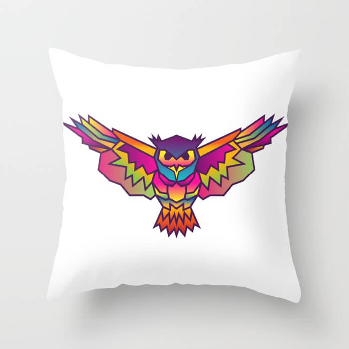 geometric-owl-colored-pillows