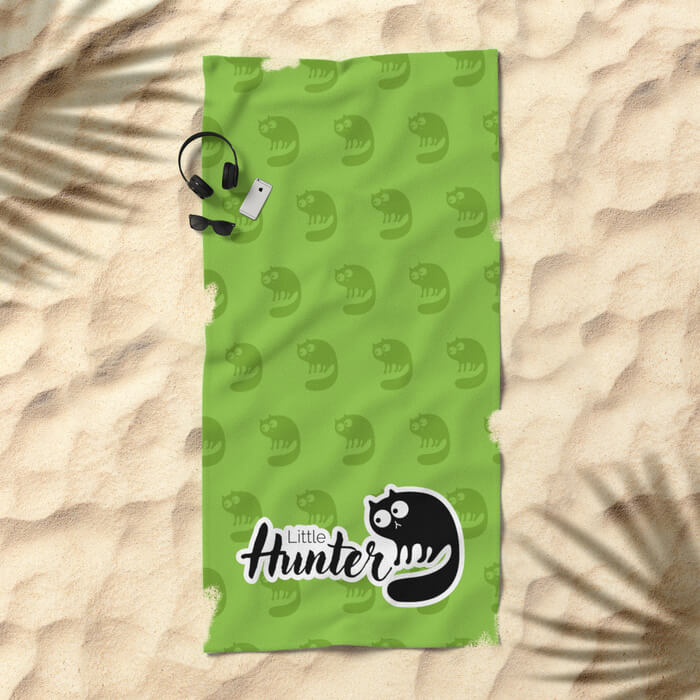 little-hunter-cat-beach-towels